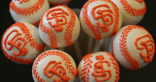 party ideas SF Giants cake pops
