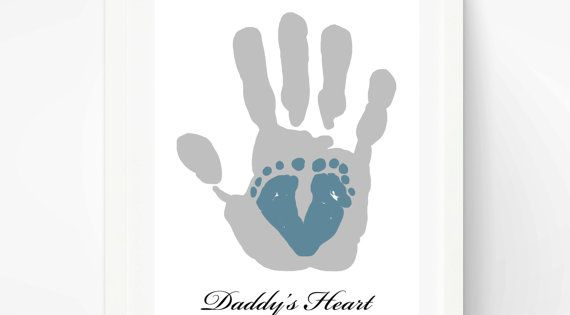First Father's Day Gift for New Dad Baby by PitterPatterPrint, $40.00