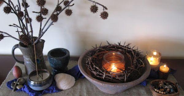 Lenten prayer table