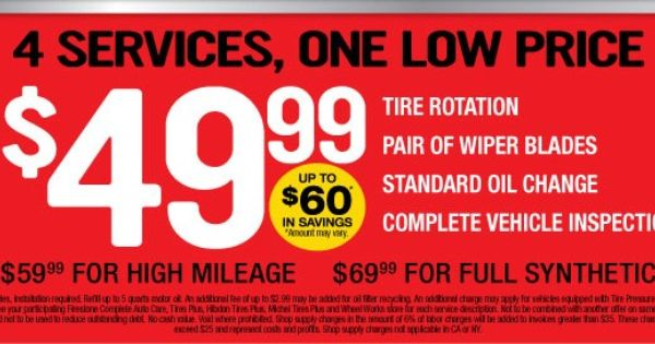 Firestone Coupons March 2020 With Images Oil Change Coupons