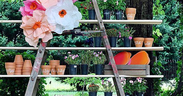 Garden Pots And Garden Party Favors A Home Depot Pink Flamingo Made