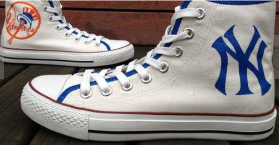 New York Yankees #Shoes Custom High-top