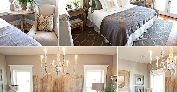 Harmonious bedroom - country rustic chic with a glamorous twist. Guest Bedroom