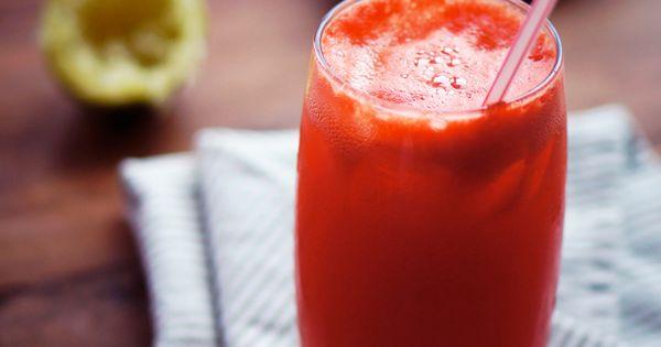 Basil Cooler (serves 8) :: 5 cups frozen watermelon chunks + 1 lime ...