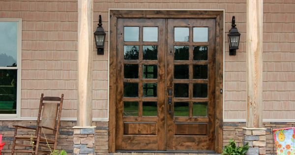 Cottage French Entry Door 6 0x8 0 Double Entry Door 20 Lite Knotty Alder Ksrdoor French Doors Exterior French Doors Patio French Entry Doors