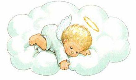 La Primavera De La Aldea Ilustracion De Bebe Angel Bebe Angelito Bebe