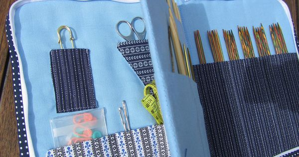 Knitting Organizer Michaels : Zippered knitting needle organizer by just do she also