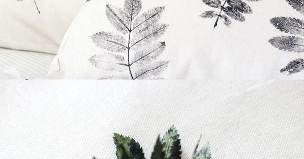 Why not try a modern-looking, monochrome leaf motif that will look fresh long past ...