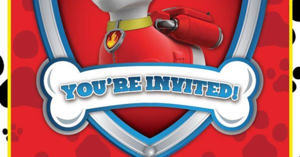 Nick Jr. Paw Patrol Birthday Invitation by GigiPistoneDesign, $10.00 - Contact gigipistone@yahoo ...