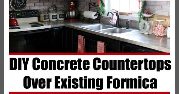 Diy Concrete Countertops Over Existing Formica Diy