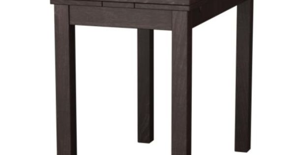 Bjursta extendable table brown 50 70 90x90 cm for Table 90x90 ikea