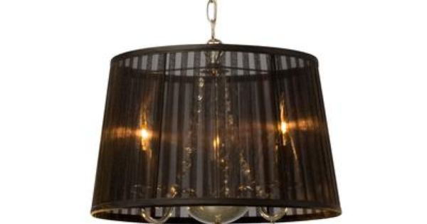 Home Depot Crystal Chandelier: Chandelier With Black Shade And Crystal