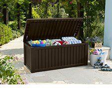 Keter 150 Gallon Outdoor Storage Deck Box Outdoor Storage Boxes Patio Storage Deck Box