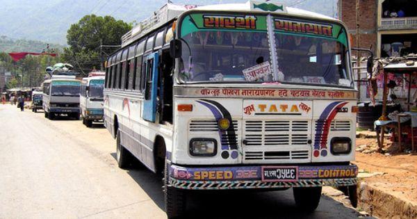 Old Tata Local Bus Kusma Nepal