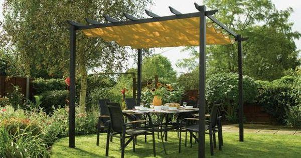 buy rowlinson latina aluminium frame canopy 9 x 9ft at. Black Bedroom Furniture Sets. Home Design Ideas