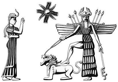 La Velleta Verda Mediterrani Inanna Ishtar La Diosa Mesopotamica Sumerio Historia Antigua Antigua Mesopotamia
