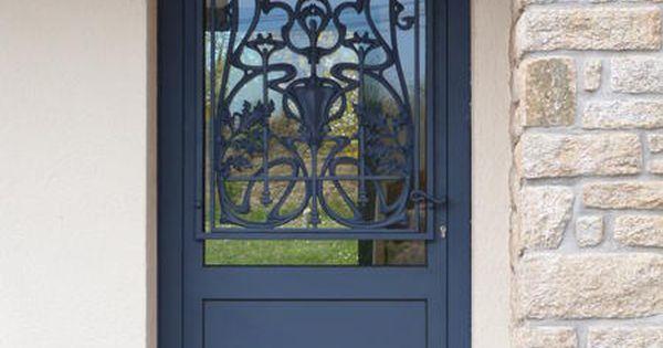 L 39 art de fer conception sur mesure de portes d 39 entr e profil m tal bretagne locqueltas Baies vitrees lapeyre