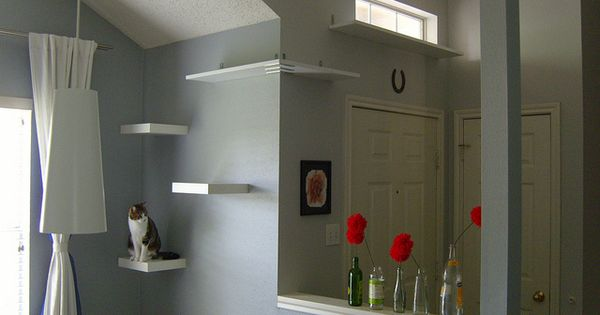 IKEA Lack Shelf For Cats | shelves posted over at Saucy Dwellings