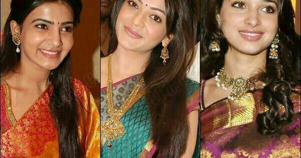 Bollywood Fashion N Beauty: Samantha Kajal N Tamana In Traditional Silk Sarer