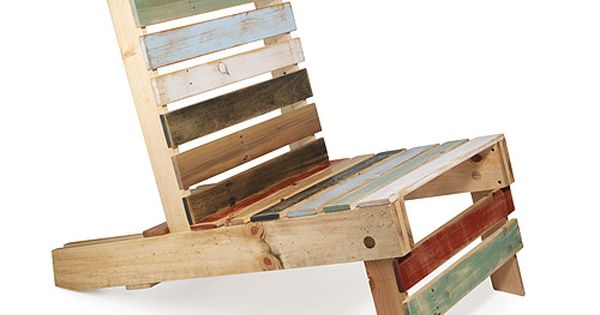 Pallet lawn chair. i really love all the recycled pallet ideas ive