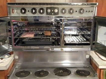 Refurbished Vintage Electric Stoves ~ Vintage tappan double oven electric range gently