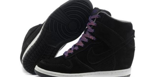 Women's Nike Dunk Sky Hi SneakerBoot Black Suede | Black