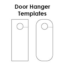 Design Your Own Door Hanger With These Free Printable Door Hanger Templates There Are Three Blank Templates To Choose Door Hanger Template Door Hangers Hanger