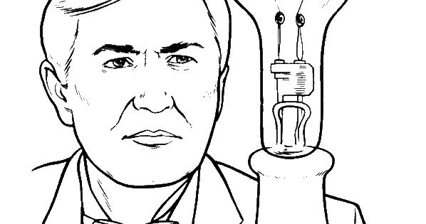 Thomas Edison Tried His Invention Coloring Pages | 2014 ...