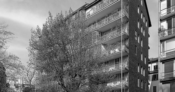 Condominio di v marchiondi a milano 1949 1953 ignazio for Casa borsalino gardella