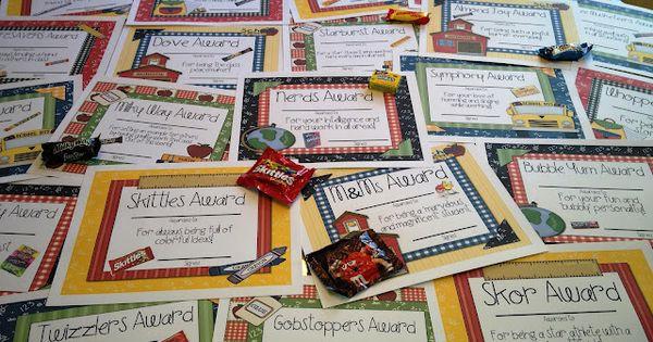 Tunstalls Teaching Tidbits: Candy Awards