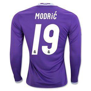 16-17 Real Madrid Football Shirt Away Long Sleeve  19 MODRIC Cheap ... 47fb6b4ff