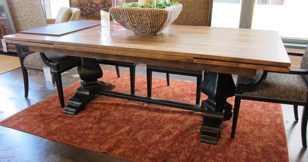 hooker sanctuary refectory table in ebony and dift dining room tables extendable ebay extendable dining room tables and chairs