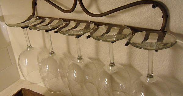 rake wine rack, great idea!