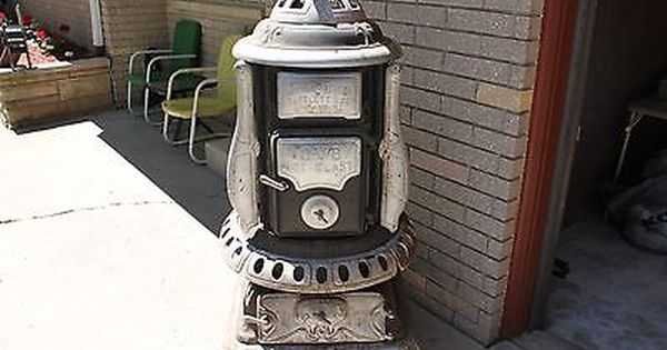 Hibbard Spencer Bartlett Co Wood Burning Stove Cast Iron Pot Belly Stove Wood Burning Stove Cast Iron Pot Belly Stove Wood