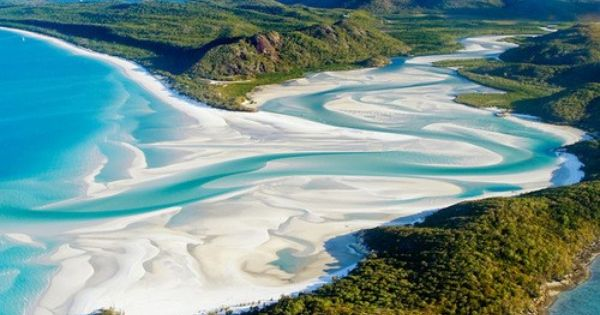 Whitehaven Beach, Australia Off the coast of Airlie Bleach, the Whitsunday Islands