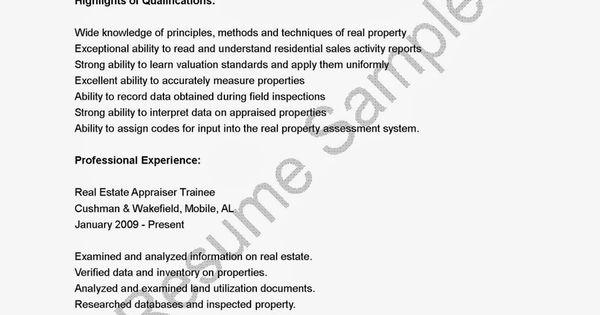 Appraiser Trainee Resume / Sales / Appraiser - Lewesmr