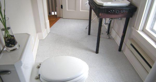 Bathroom floor tile rehab addict pinterest toilets for Bathroom rehab