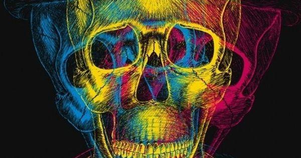 skull wallpaper 133 colorful - photo #37