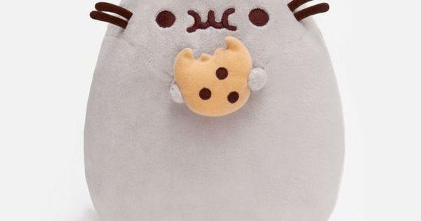 Stuffed Animal Cat Holding Doughnut