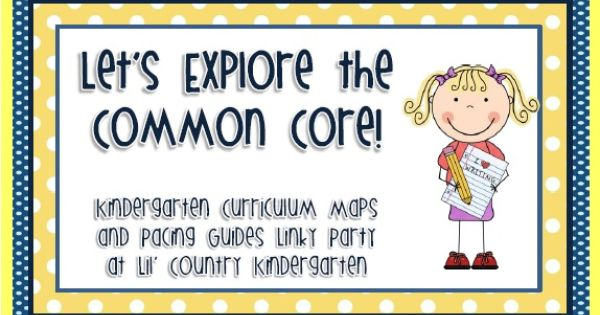 kindergarten curriculum map template - k common core curriculum map linky party at lil country