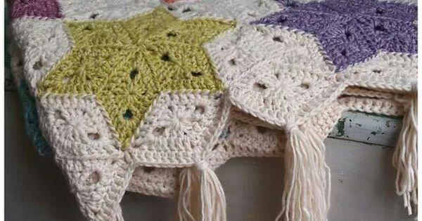 Manta estrellas de colores diy crochet grannies - Mantas ganchillo colores ...