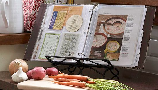 Recipe Organization: Have a pile of cookbooks gathering dust? Scan and print