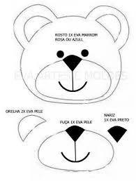 Resultado De Imagem Para Molde De Rosto De Urso De Eva Moldes