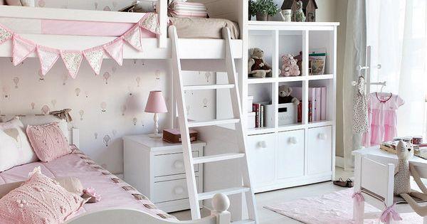 Un dormitorio coqueto con litera en ngulo litera - Literas en angulo ...