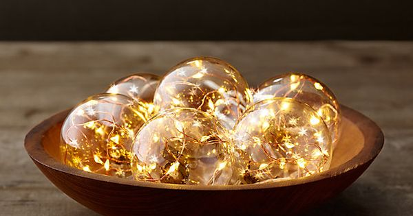 Copper Globe String Lights : Starry Glass Globe String Lights - Amber Lights On Copper Wire Restoration Hardware ...