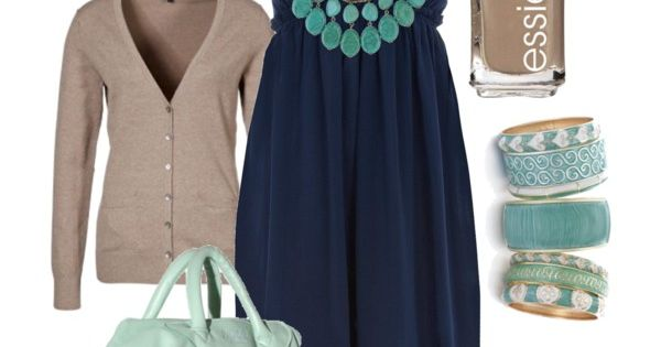 love the taupe and navy with the turquoise:)
