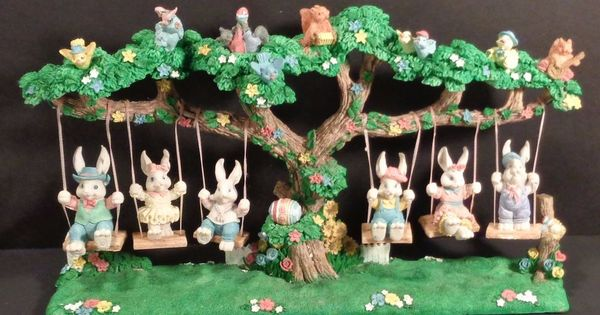 Attitude easter jubilee bunnies swinging decoration have