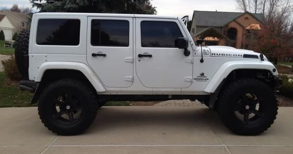 white 4 door jeep wrangler c a r s pinterest 4 door jeep wrangler jeep wranglers and jeeps. Black Bedroom Furniture Sets. Home Design Ideas