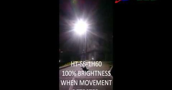 How Does Motion Sensor Work With All In One Solar Street Light By Hitechled Street Light Solar Street Light Motion Sensor