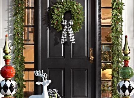 Ideas para decorar tu entrada esta navidad 2017 2018 - Ideas para decorar porche entrada ...